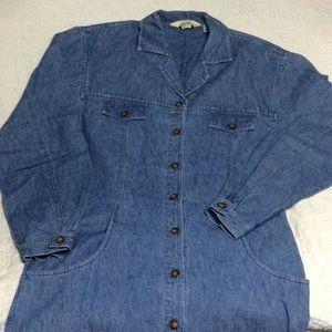 Eddie Bauer denim Shirt Dress small